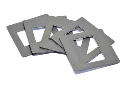 5 x Glassless slide mounts 5x5/24x36 Hinged Slide Mounts 35mm